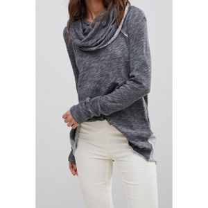 Free People Beach Cotton Cocoon Cowl Neck Sweater.